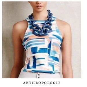 Anthropologie Deletta Colorful Halter Tank